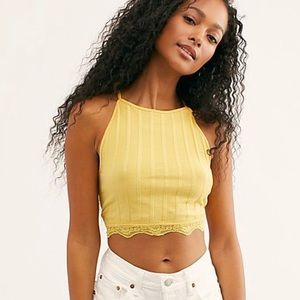 Free People NWT All Your Love Crop Top Small